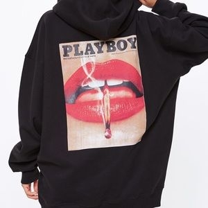 NWT - Playboy X Missguided Oversized Hoodie Dress